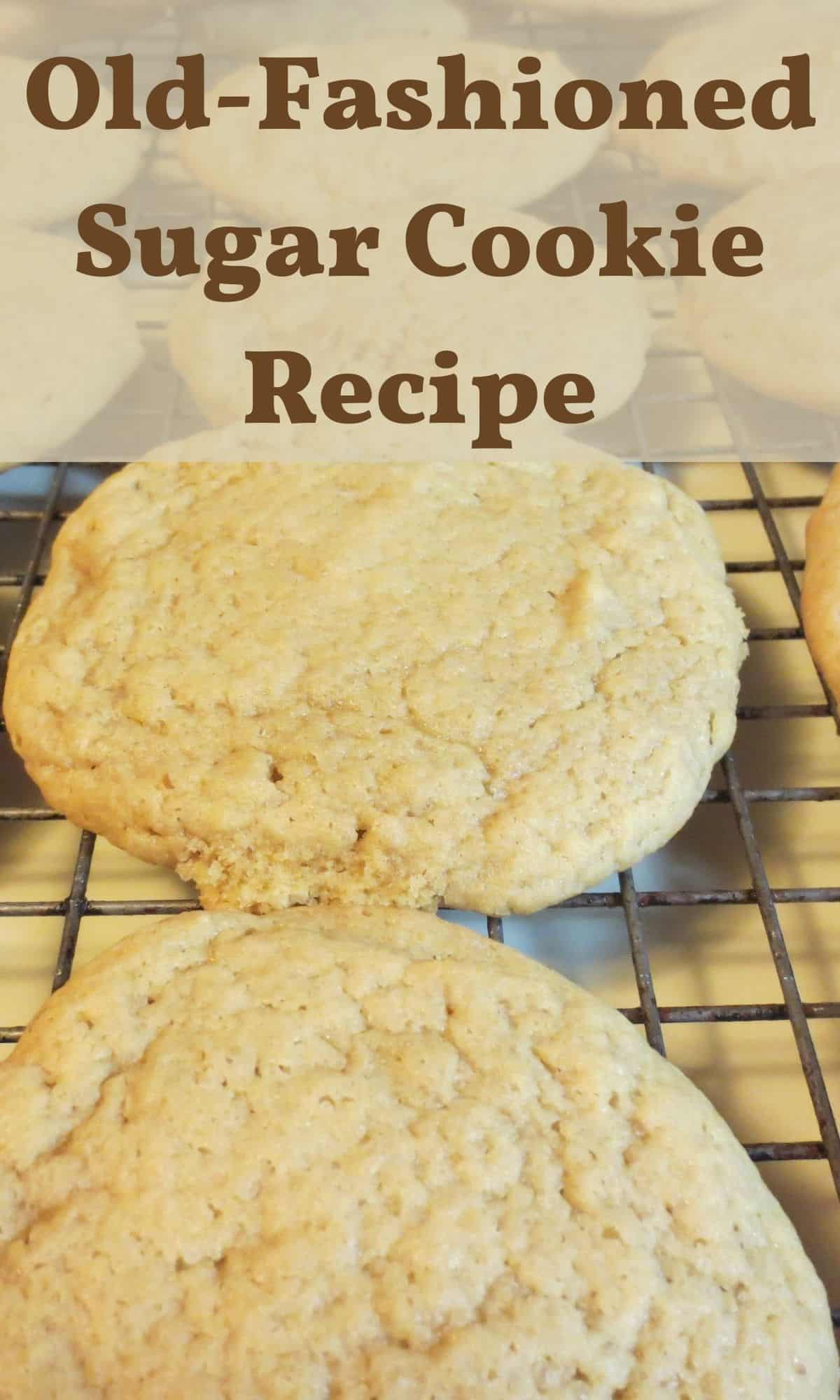 cookies on cooling rack made with sugar cookie recipe