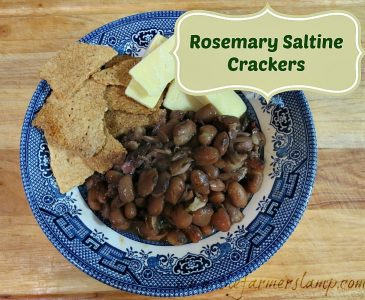 Crackers w/Beans and Cheese