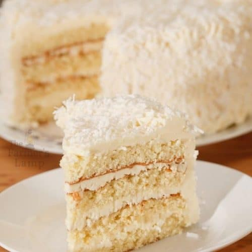 Old-Fashioned Layered Coconut Cake