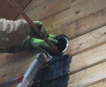 cleaning creosote from chimney pipe