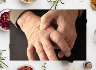 man gripping finger joints needing to relieve joint pain naturally