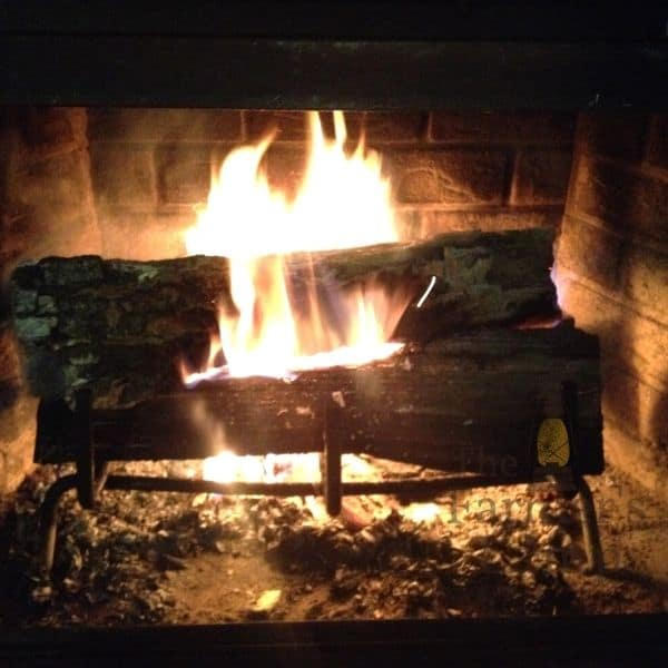 fireplace with wood ash